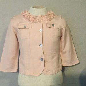 Short peach blazer